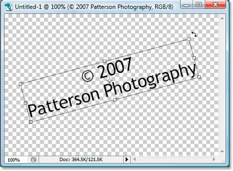 rotate pattern in photoshop add a copyright watermark pattern to a photo with photoshop