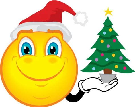 christmas emoticons smiley clipart clipart suggest