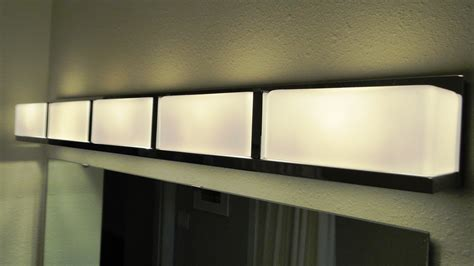 Bathroom Modern Light Fixtures by Led Bathroom Lighting Fixture Warm Mavalsanca Bathroom
