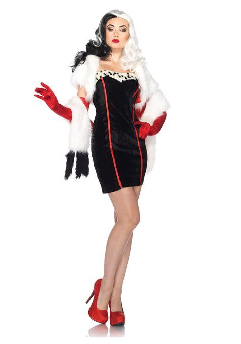 comfortable halloween costumes for women women s disney cruella costume