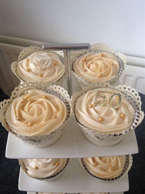 Cupcake Wedding Anniversary golden wedding anniversary cupcakes baking