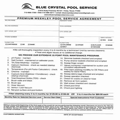 pool service contract template pool service in katy tx pool companies in katy tx forms