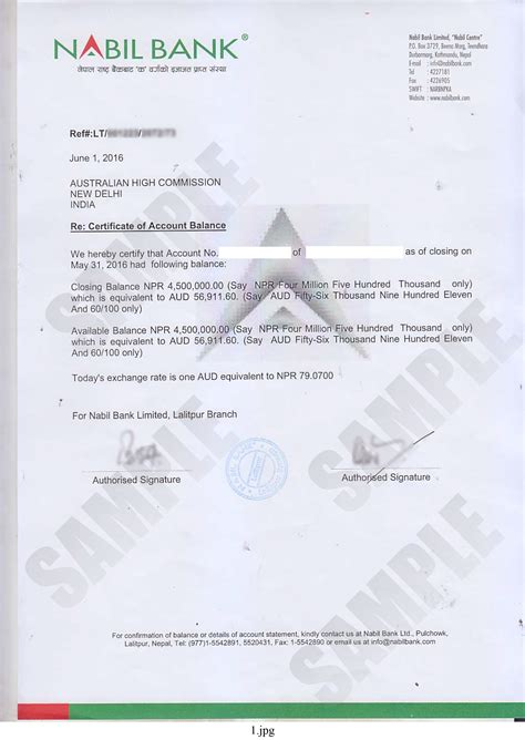 bank certification letter template bank balance certificate kiec