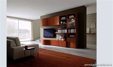 mobili soggiorno moderni ciliegio soggiorno 302 in ciliegio con anta profilo massello