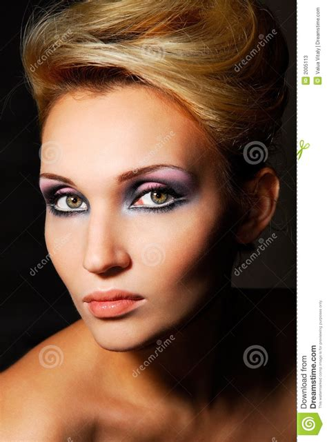 beautiful lady beautiful lady stock image image of fashion eyebrow