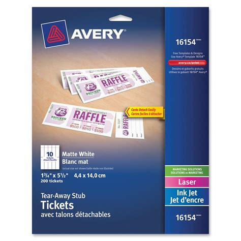 avery printable tickets template avery printable tickets with tear away stubs zerbee