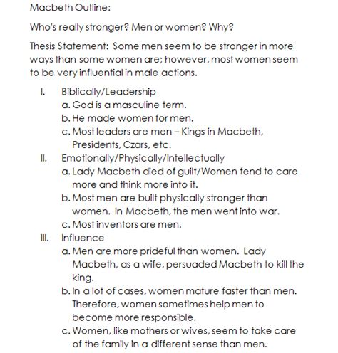 Macbeth Essay Outline by 8 Tips For Crafting Your Best Macbeth Essay Topics And Answers