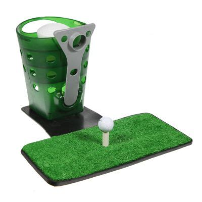automatic golf swing tommy armour automatic 36 golf ball dispenser swing mat 3