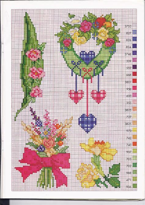 ghirlande di fiori ghirlande di fiori e mazzi di fiori schemi punto croce