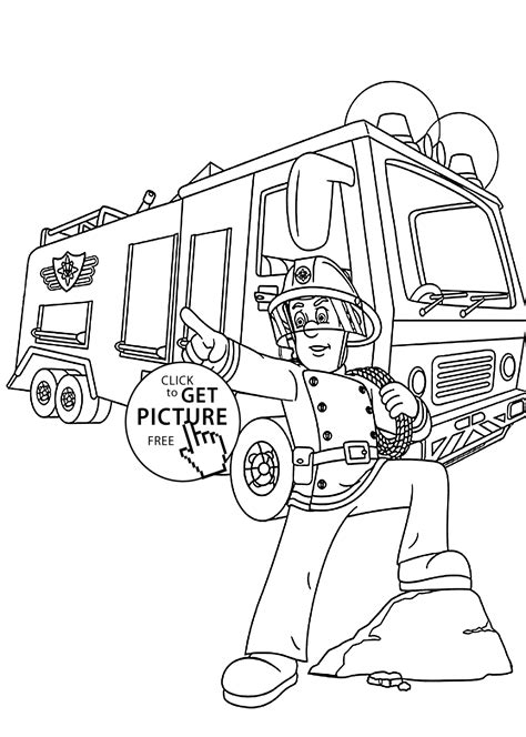 firetruck coloring pages for kids printable free