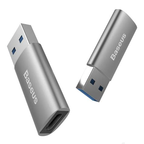Baseus Aluminium Usb Type C To Usb 3 0 1 Meter T3010 3 baseus usb type c to usb 3 0 adapter to silver