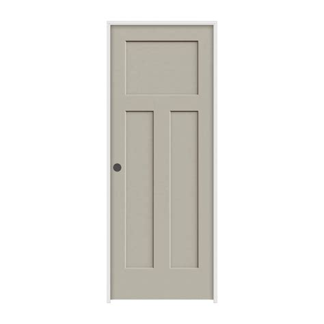 jeld wen interior doors jeld wen 36 in x 80 in molded smooth 3 panel craftsman desert sand solid composite single