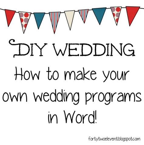 wedding program heart scroll design office templates