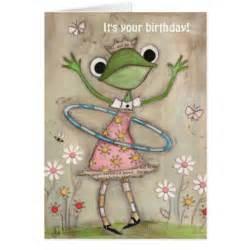 hula hoop frog birthday card zazzle