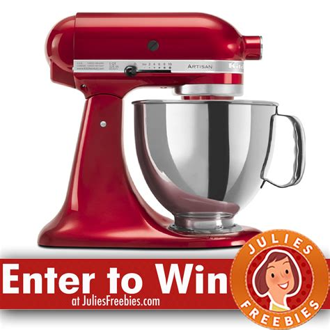 Win a Kitchen Aid Stand Mixer   Julie's Freebies