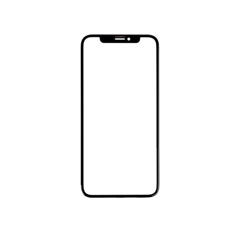 replacement front glass for apple iphone xs max silver by maxbhi