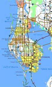 map of pinellas county florida florida southeastroads pinellas county highways