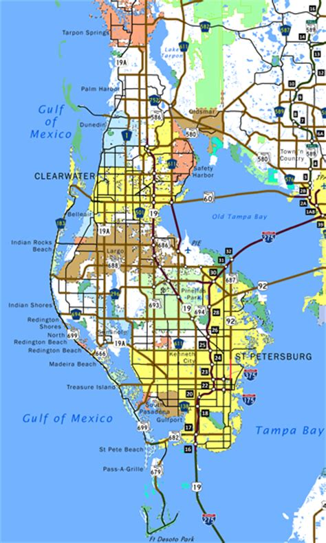 Pinellas County Florida Search Florida Southeastroads Pinellas County Highways