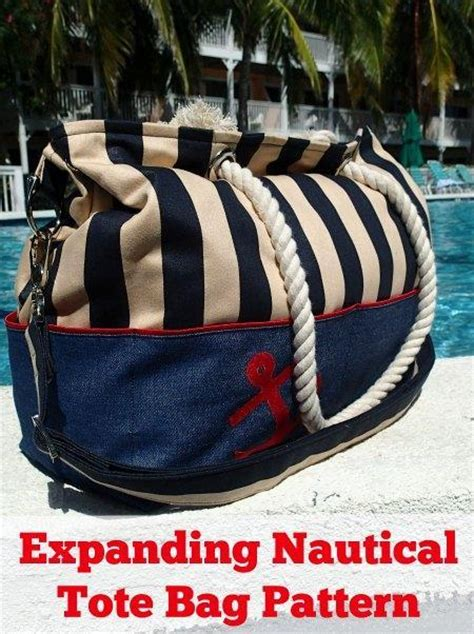 nautical tote bag pattern expanding nautical tote bag by so sew easy craftsy