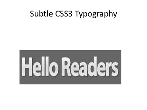 css3 typography css3 text effects