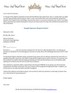 Sponsorship Letter Exles For Pageants Sle Pageant Sponsorship Letter Resume Cornerspotential Ga