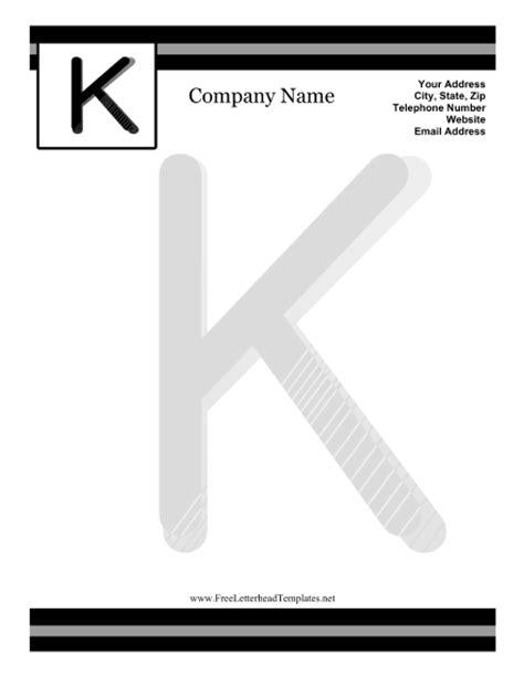 free printable monogram stationery k monogram letterhead