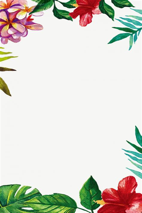 watercolor floral border proverb background template