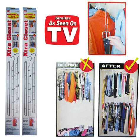 As Seen On Tv Closet Organizer by 2 Xtra Closet Rod Clothes Organizer Sturdy Chrome