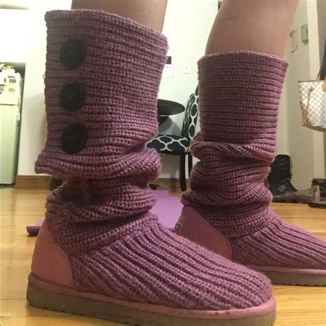 Ugg Classic Cardy Boots 5819 Pink Outlet Stores 43 Ugg Shoes Raspberry Cardy Ugg Boots From S Closet On Poshmark