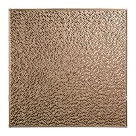 ceiling tiles home depot fasade hammered 2 ft x 2 ft lay in ceiling tile in brushed nickel l59 29 the home depot