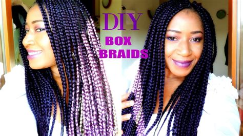 how to work out with box braids how to box braid easiest steps on a short 4c hair diy