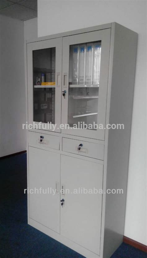 low price fireproof file cabinet with half glass door