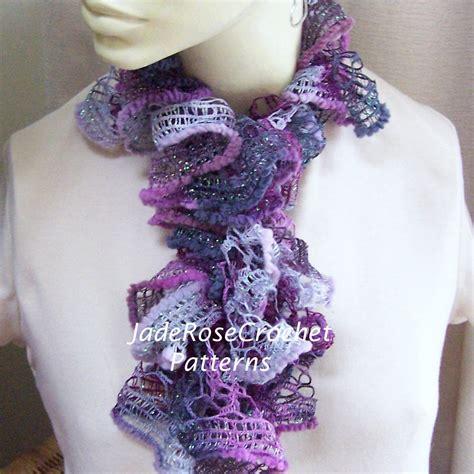 pattern for ruffle yarn scarf crochet scarf pattern ruffled scarf pattern long and frilly