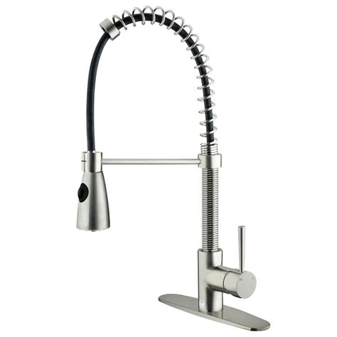 Single Handle Kitchen Faucet With Sprayer Vigo Single Handle Pull Sprayer Kitchen Faucet In Stainless Steel Vg02007st The Home Depot