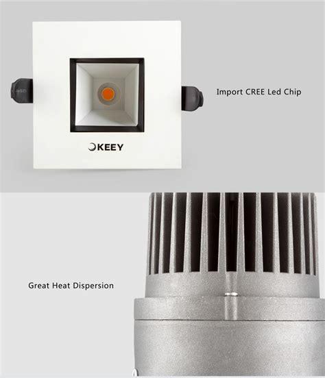 Lu Ceiling Downlight Led Cob 10 Watt Adjustable Warm Whi T3009 keey adjustable 10w square cob led ceiling downlight