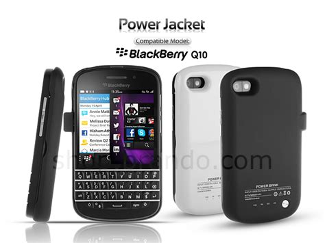 Battery Power Nx1 Untuk Blackberry Q10 2800mah power jacket for blackberry q10 2800mah