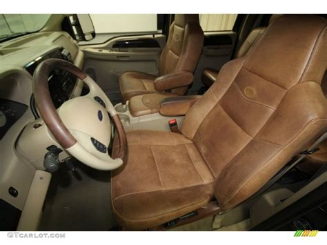 King Ranch F250 Interior by Castano Brown Leather Interior 2005 Ford F250 Duty