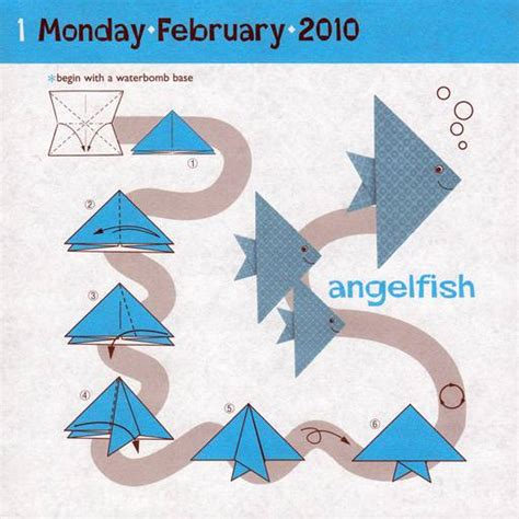 How To Make An Origami Angelfish - xinu origami angelfish