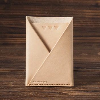 How To Make A Pocket Out Of Paper - 25 best ideas about leather card wallet on