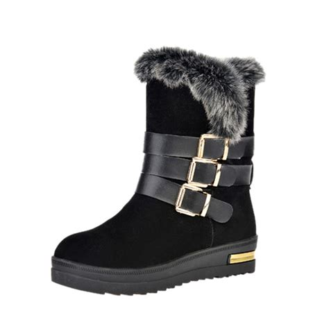 warm comfortable boots women winter plush cotton boots casual outdoor keep warm