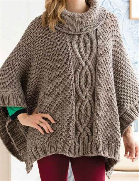 poncho pattern knitting yarn cabled poncho knitting pattern and kit knit this poncho