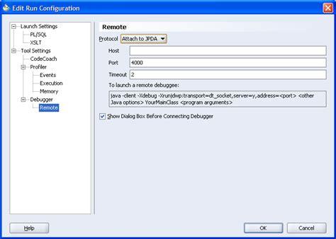 using the jdeveloper ejb tools remote debugging on weblogic server