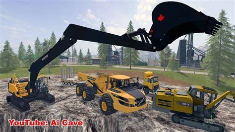 volvo mining equipment ece excavator ag truck farming simul thee  game