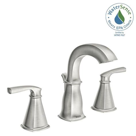 moen brushed nickel kitchen faucet moen hensley 8 in widespread 2 handle bathroom faucet in