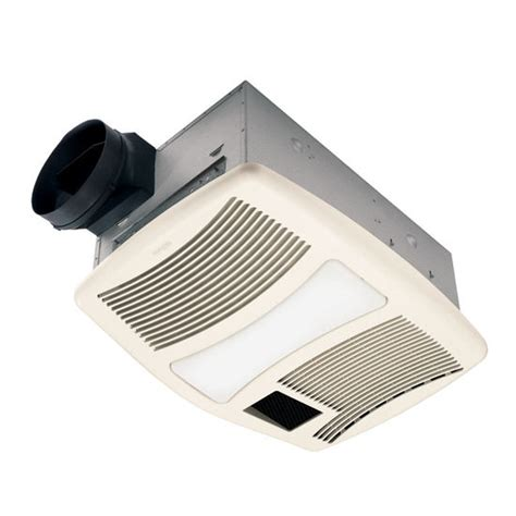 broan bathroom fan with light bathroom fans nutone qtxn110hl ventilation heater fan w