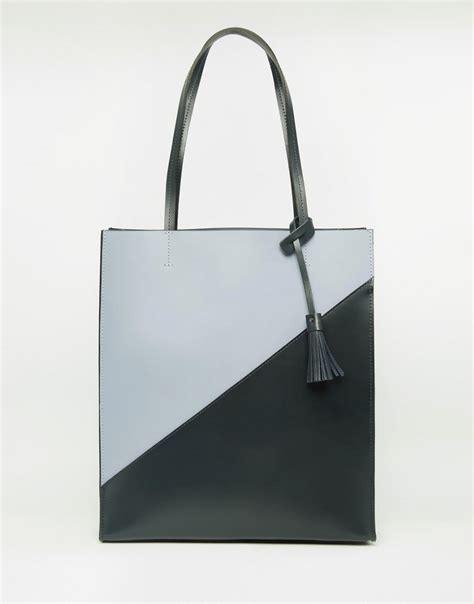 asos asos premium leather shopper bag at asos