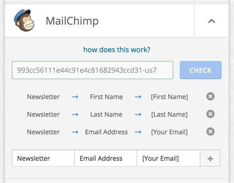 Formcraft 187 How To Configure Mailchimp Add On Mailchimp 4 Column Template