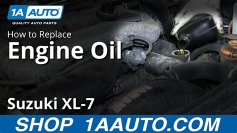 engine oil change   suzuki xl  youtube