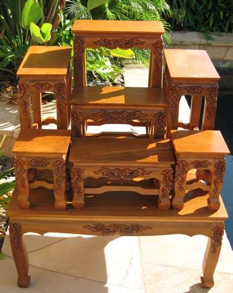 thai buddhist altar table set