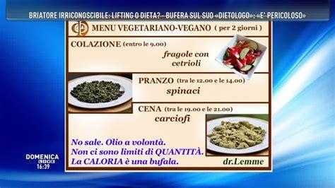 filosofia alimentare dieta domenica live la discussa dieta dr lemme